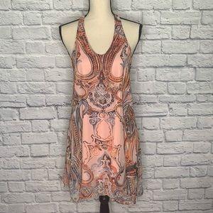 Altar'd State Paisley Print Halter Slip Dress